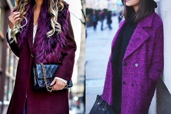 Фиолетовое пальто: модные оттенки 2018 года для женщин и молодежи