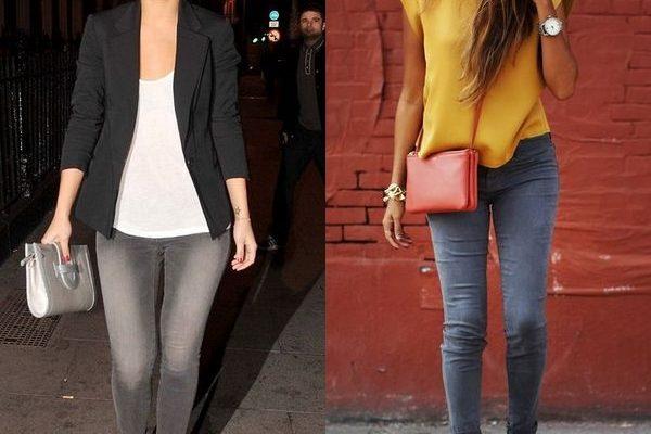 Серые джинсы: основа женского базового гардероба 2018 года