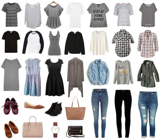 d09c3411659e Посмотрите на фото базового гардероба для девушки 16 лет, где показан  вариант для наиболее удачных образов девочки на осень.