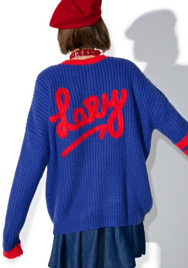 Модные тенденции: синий кардиган