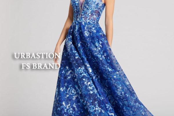 Синее платье на Новый 2019 год