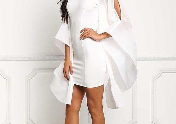Новогоднее белое платье: хит 2019 года