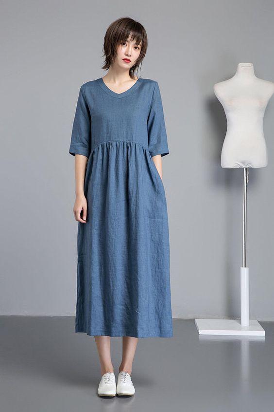 37c605049 Льняное платье и сарафан изо льна 2019 года: фото моделей и особенности