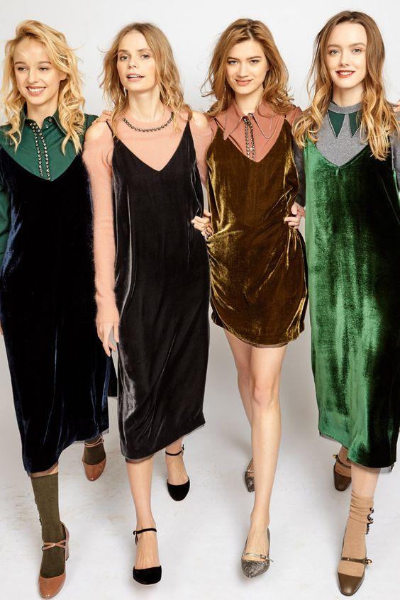 Велюровое платье: тренд 2019 года, которые затмит соперниц
