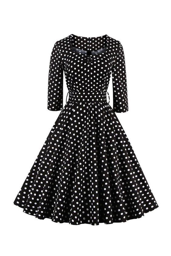 69727146c4a Платье в горошек 2019  фото моделей