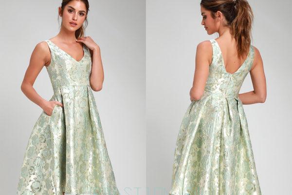 Платье из жаккарда: солидные и актуальные новинки 2019 года