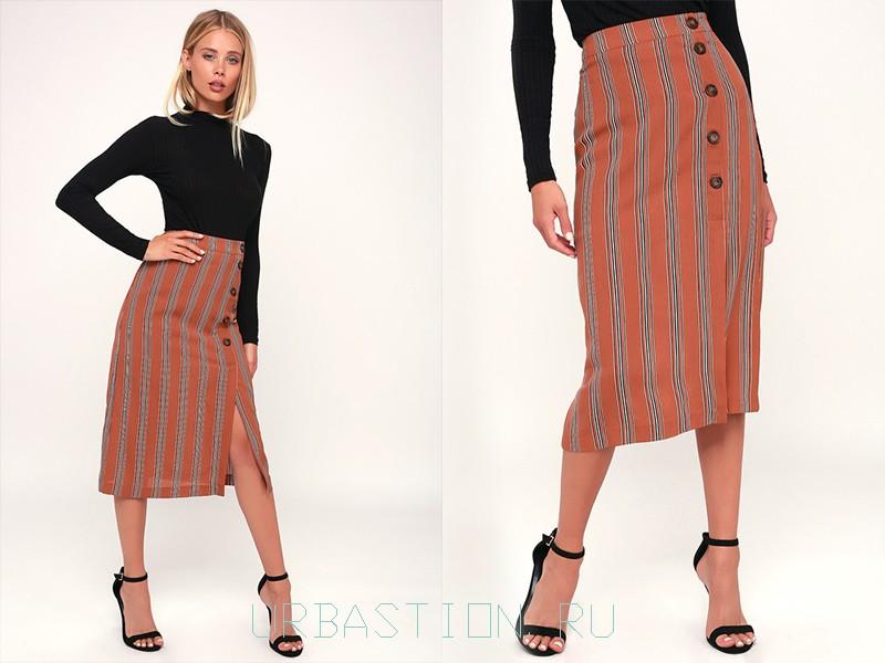 0164b39cad7e Модные юбки с запахом: фото, длинные, короткие, прямая, солнце, карандаш