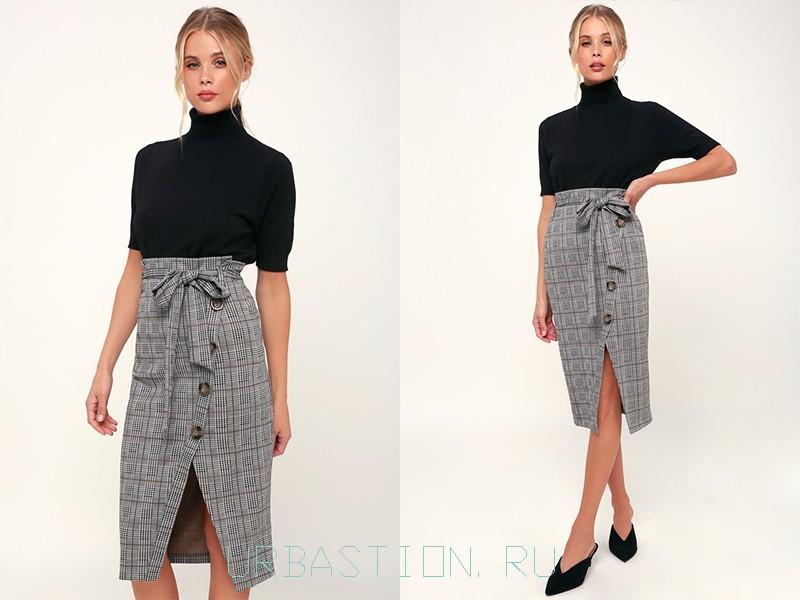 6c7b3c68b462 Модные юбки с запахом: фото, длинные, короткие, прямая, солнце, карандаш