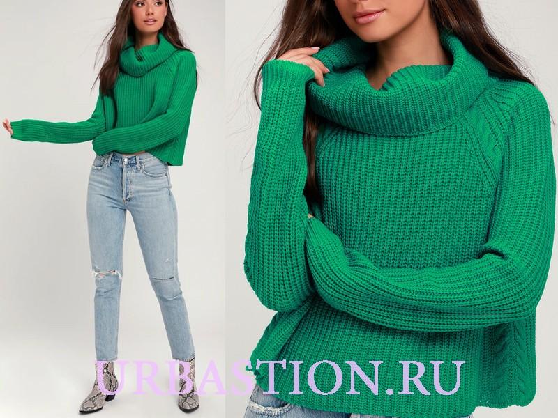 свитеры с косами женские вязаные с узорами оверсайз молодежные