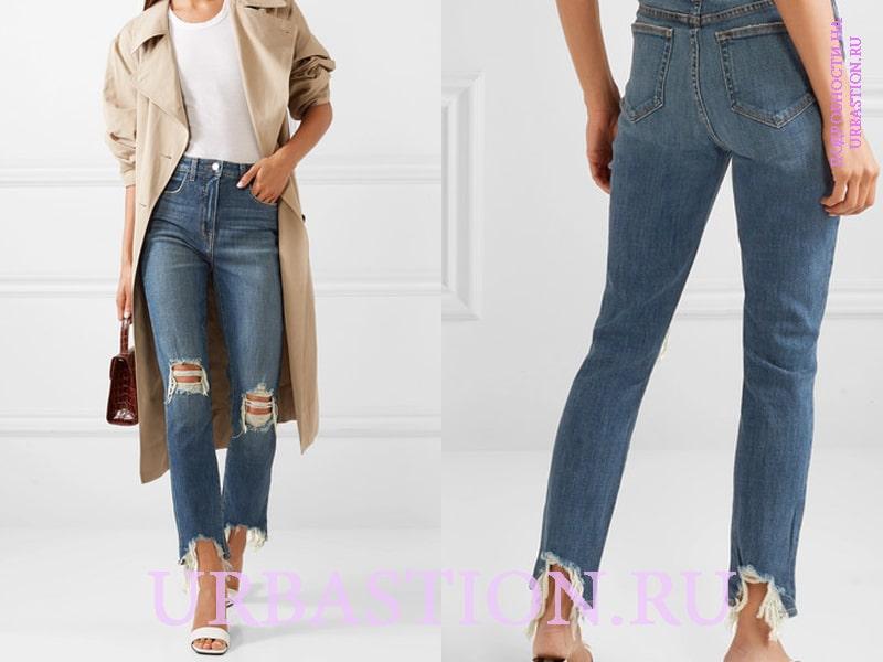 347bc4d71135876 Длинные джинсы темно-синего цвета носите с удлиненными рубашками голубого  цвета. Чтобы скорректировать образ выбирайте блузку с активным воротом и ...
